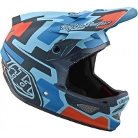 Troy lee Designs D3 Fiberlite speedcode blue