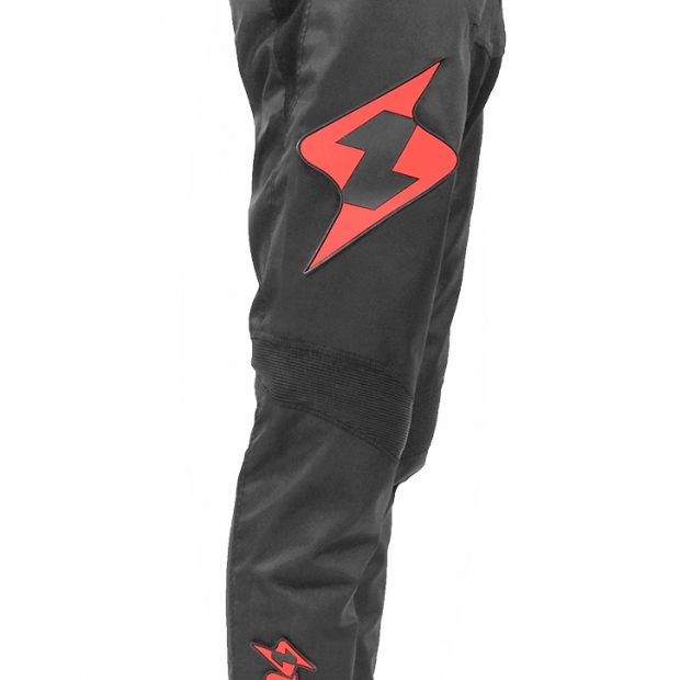 Pantalon Lead noir/rouge
