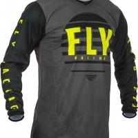 Maillot Fly Kinetic K220 Noir/Gris/Jaune Fluo 2020 YXL
