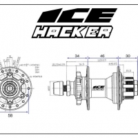 Moyeu AR Ice Hacker Disk 36H Black