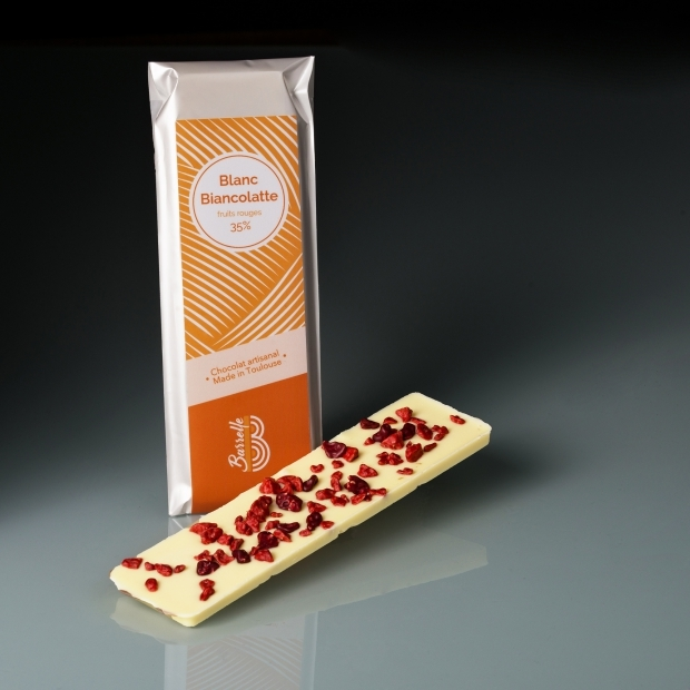 Chocolat blanc Biancolatte 35 % - Fruits rouges